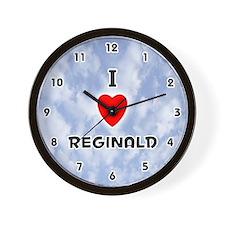 I Love Reginald (Black) Valentine Wall Clock