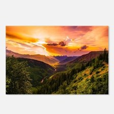 Cool Sunset clouds Postcards (Package of 8)
