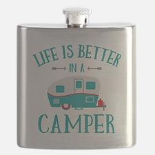 Life's Better Camper Flask