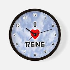 I Love Rene (Black) Valentine Wall Clock