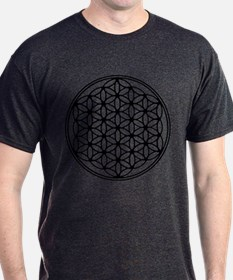 Flower of Life - Black T-Shirt