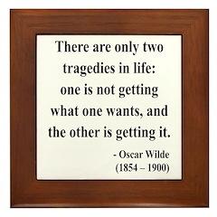 Oscar Wilde 23 Framed Tile