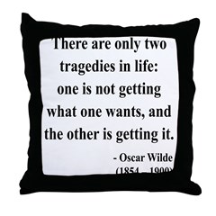 Oscar Wilde 23 Throw Pillow