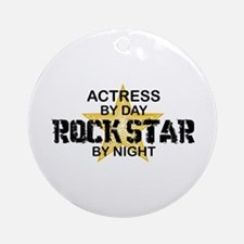 Actress Rock Star Ornament (Round)