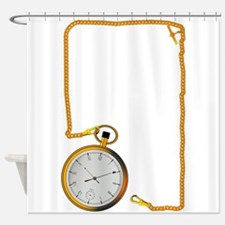 Gold Watch and Chain Shower Curtain