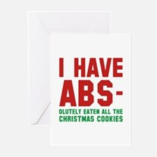 I Have Abs Greeting Cards (Pk of 20)