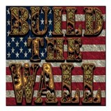 Build the wall Square Car Magnets