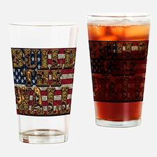 Build Wall FlagUSA Drinking Glass