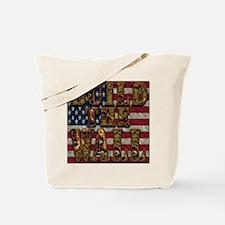 Build Wall Flagusa Tote Bag