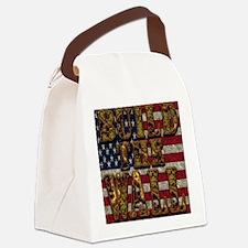 Build Wall FlagUSA Canvas Lunch Bag