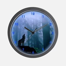 Howling Wolf Wall Clock