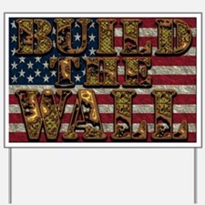 Build Wall FlagUSA YS Yard Sign