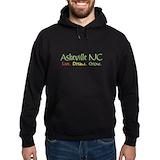 Asheville nc Hoodie (dark)