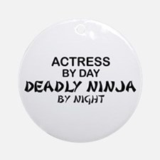 Actress Deadly Ninja Ornament (Round)