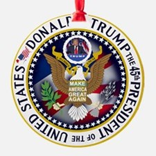 Fun Trump President Seal Ornament
