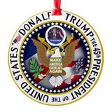 Donald president Round Ornament