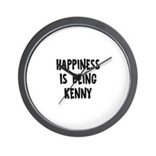 Happiness is being Kenny Wall Clock