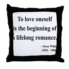 Oscar Wilde 26 Throw Pillow