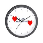 I Love Jack Russell Terriers Wall Clock
