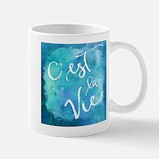 C'est La Vie Watercolor Motivational Quot Mugs