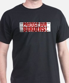 Protect Our Borders Ash Grey T-Shirt
