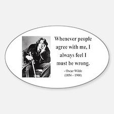 Oscar Wilde 27 Oval Decal