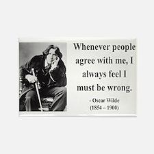 Oscar Wilde 27 Rectangle Magnet