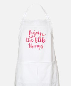 Enjoy the Little Things Watercolor Motivatio Apron