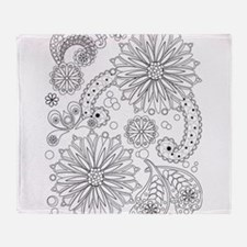 Flower Garden Galaxy Throw Blanket