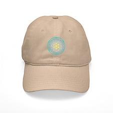 Flower of Life - Aqua Baseball Cap