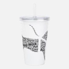 Poop Walk Black Dog Wo Acrylic Double-wall Tumbler