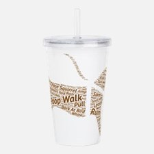 Poop Walk Brown Dog Wo Acrylic Double-wall Tumbler