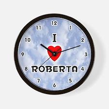 I Love Roberta (Black) Valentine Wall Clock