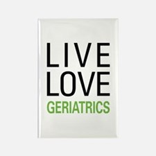 Live Love Geriatrics Rectangle Magnet (100 pack)