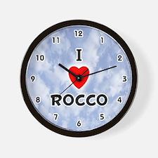 I Love Rocco (Black) Valentine Wall Clock
