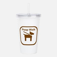 Poop Walk Brown Dog Ic Acrylic Double-wall Tumbler