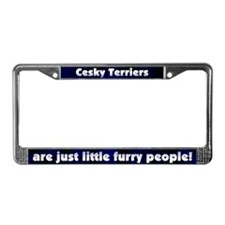 Furry People Cesky Terrier License Plate Frame