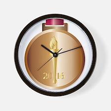 Bronze Medal Wall Clock