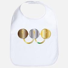 Medal Olympic Rings Baby Bib