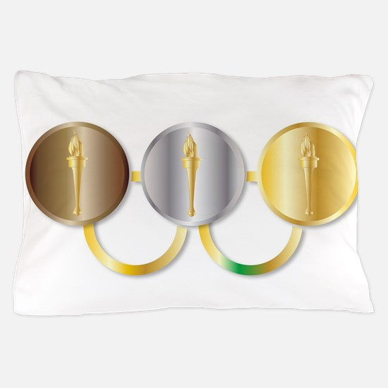 Medal Olympic Rings Pillow Case