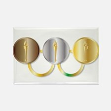 Medal Olympic Rings Magnets