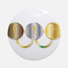 Medal Olympic Rings Round Ornament