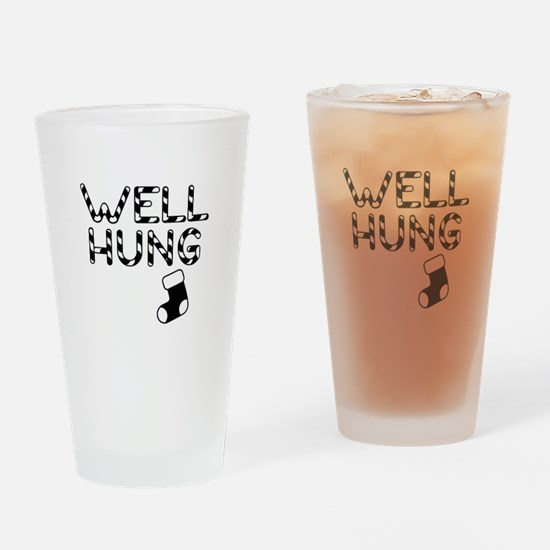 Well Hung Drinking Glass