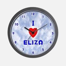 I Love Eliza (Blue) Valentine Wall Clock