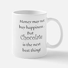Money & Chocolate Happiness Mugs