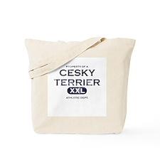 Property of Cesky Terrier Tote Bag