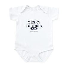 Property of Cesky Terrier Baby Bodysuit