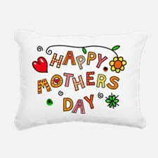 Cute Happy mothers day Rectangular Canvas Pillow