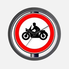 Motorcycle Sign Wall Clock