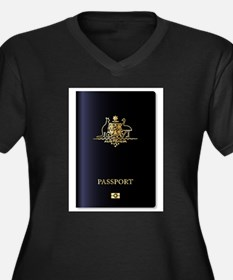 Australian Passport Plus Size T-Shirt